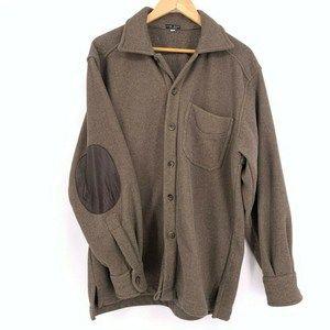 Marc Baxis Mens Brown Coat Elbow Patch Size L